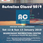 Welcome to Fun & Sports Charity Event AUSTRALIAN CLOSED 2019